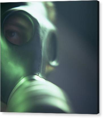 Terrorist Canvas Print - Gas Mask by Cristina Pedrazzini