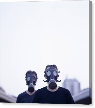 Terrorist Canvas Print - Gas Masks by Cristina Pedrazzini