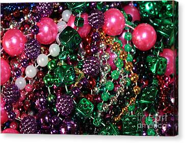Gasparilla Beads Canvas Print by Carol Groenen