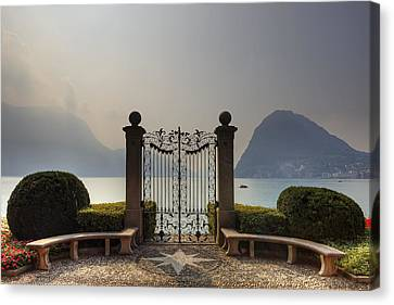 Gateway To The Lake Of Lugano Canvas Print by Joana Kruse