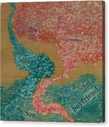 Cardboard Canvas Print - Gender by Darien Wendell