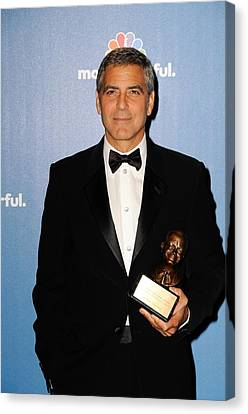 George Clooney Wearing Giorgio Armani Canvas Print