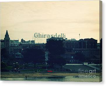 Ghirardelli Square Canvas Print by Linda Woods