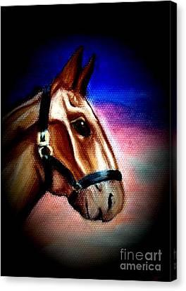 Giddy Up Canvas Print by Ayasha Loya