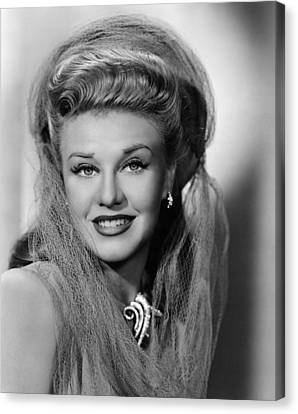 1940s Hairstyles Canvas Print - Ginger Rogers 1911-1995, American by Everett