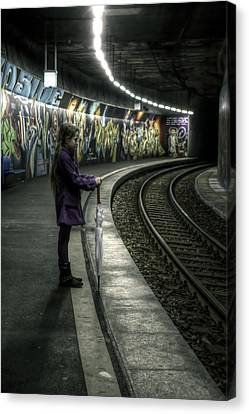 Braids Canvas Print - Girl In Station by Joana Kruse