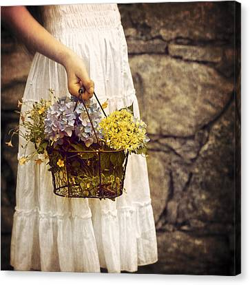 Girl With Flowers Canvas Print by Joana Kruse