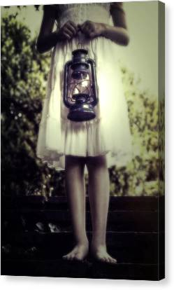 Oil Lamp Canvas Print - Girl With Oil Lamp by Joana Kruse