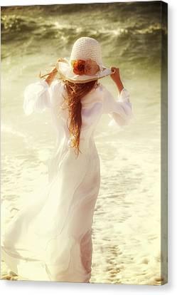 Girl With Sun Hat Canvas Print by Joana Kruse