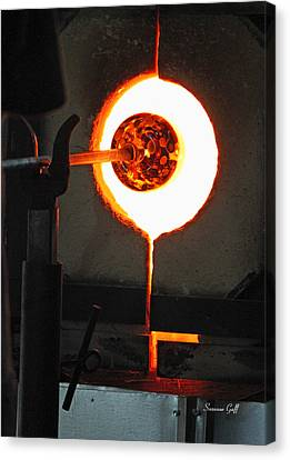 Glass Blowing V Canvas Print by Suzanne Gaff