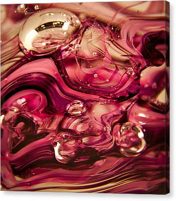 Glass Macro V Canvas Print by David Patterson