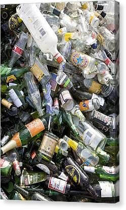 Glass Recycling Canvas Print by Paul Rapson