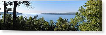 Inspiration Point Canvas Print - Glen Lake From Inspiration Point by Twenty Two North Photography