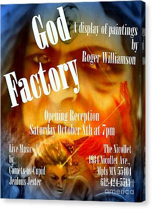 God Factory An Exhibition Of Paintings By Roger Williamson Canvas Print