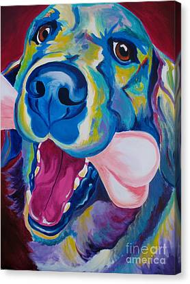 Golden - My Favorite Bone Canvas Print by Alicia VanNoy Call