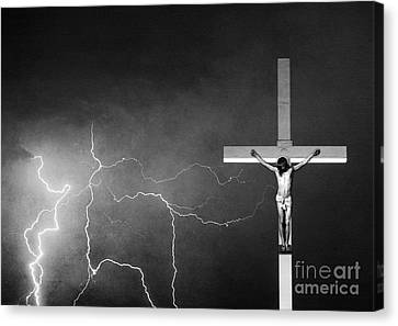 Good Friday - Crucifixion Of Jesus Bw Canvas Print by James BO  Insogna
