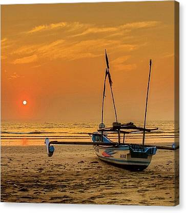 Good Morning #sunrise Canvas Print
