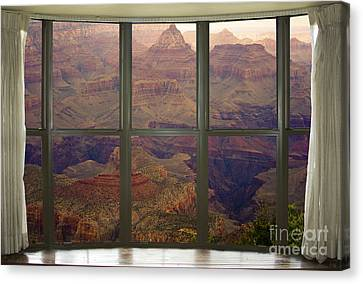 Grand Canyon Springtime Bay Window View Canvas Print by James BO  Insogna