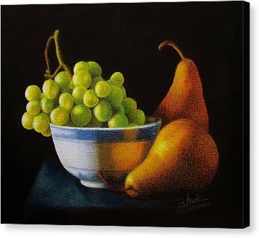 Grapears Canvas Print by Bleuie  Acosta