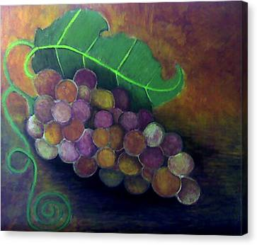 Canvas Print featuring the painting Grapes by Monica Furlow