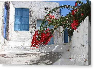 Canvas Print featuring the photograph Greece by Milena Boeva
