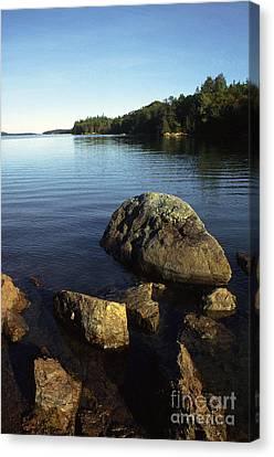 Greenlaw Cove Deer Isle Maine Canvas Print by Thomas R Fletcher
