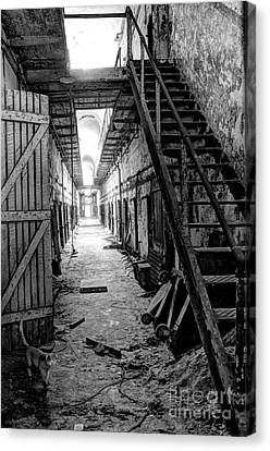 Grim Cell Block In Philadelphia Eastern State Penitentiary Canvas Print by Gary Whitton