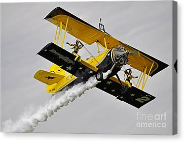 Grumman Ag 164 Wingwalker Canvas Print by Conny Sjostrom
