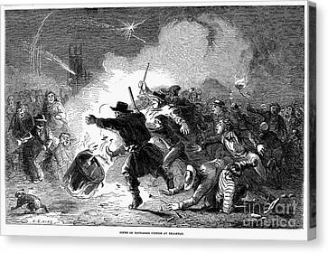 Guy Fawkes Day, 1853 Canvas Print by Granger