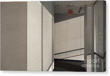 Hallway Of An Office Building Canvas Print