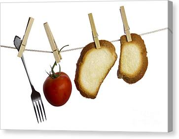 Hanging Food Canvas Print by Blink Images