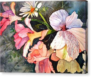 Canvas Print featuring the painting Happy Mother's Day by AnnE Dentler