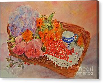 Canvas Print featuring the painting Harvest by Beatrice Cloake