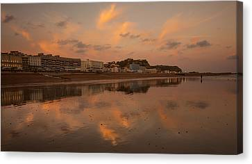 Hastings Sunset Canvas Print by Dawn OConnor