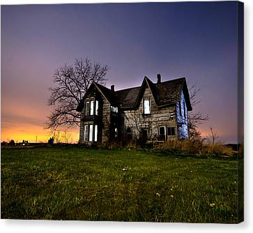 Abandoned Houses Canvas Print - Haunted House by Cale Best
