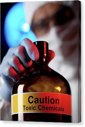 Hazardous Chemical Canvas Print by Tek Image