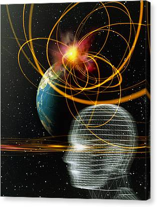 Head In Space Canvas Print