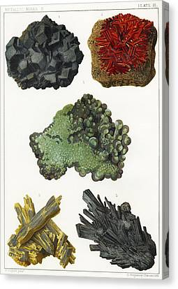 Simonin Canvas Print - Heavy Metal Minerals by Sheila Terry