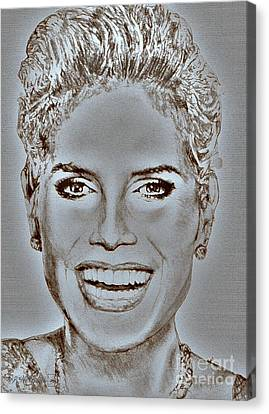 Heidi Klum In 2010 Canvas Print by J McCombie