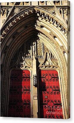 Heinz Chapel Doors Canvas Print by Thomas R Fletcher