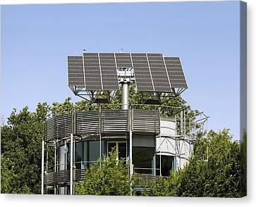 Heliotrope Solar House Canvas Print by Martin Bond