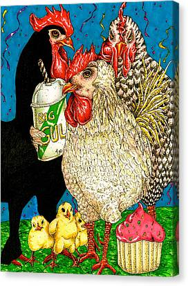 Hen Party Canvas Print
