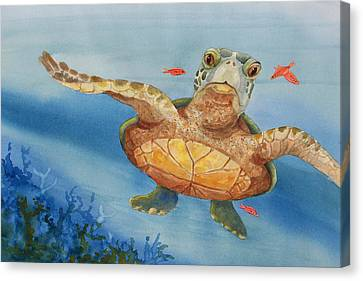 Henry C. Turtle-lunch With Friends Canvas Print