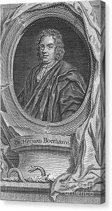 Herman Boerhaave, Dutch Physician Canvas Print by Science Source