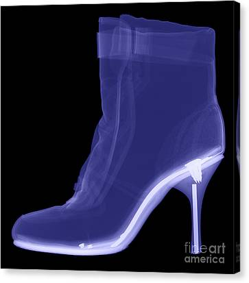 High Heel Boot X-ray Canvas Print by Ted Kinsman
