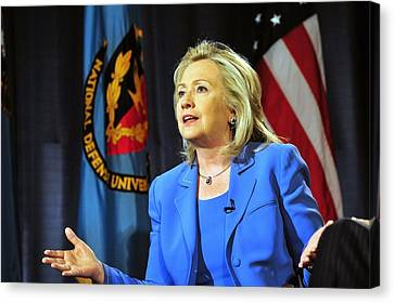 Hillary Clinton, Us Secretary Of State Canvas Print by Everett