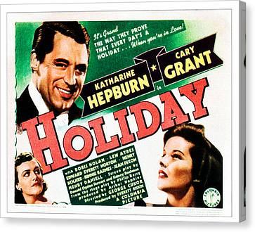 Holiday, Cary Grant, Katharine Hepburn Canvas Print