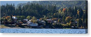 Canvas Print featuring the photograph Home Sweet Kaslo by Cathie Douglas