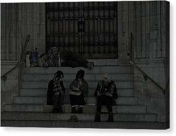 Homeless In The Big Apple Canvas Print by Snow  White