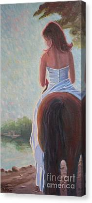 Canvas Print featuring the photograph Honeymoon Ride by Gretchen Allen